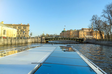Water excursions along the rivers and canals of St. Petersburg
