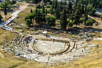 Fototapete - Theatre of Dionysus at the foot of Acropolis, Athens