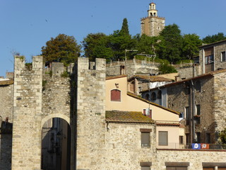 Besalu, pueblo medieval de la Garrotxa, en la provincia de Girona, Comunidad Autónoma de Cataluña, España