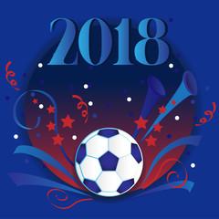 2018 Football soccer vector background.