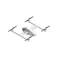Quadcopter Technology Control Isometric View. Vector