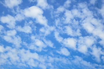 Blue sky white clouds background