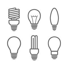 Bulbs icon set. Vector