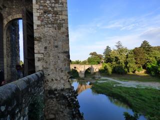 Besalu, pueblo medieval de la Garrotxa, en la provincia de Gerona, Comunidad Autónoma de Cataluña, España