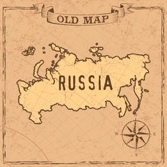 Old style maps and countries shapes in vintage