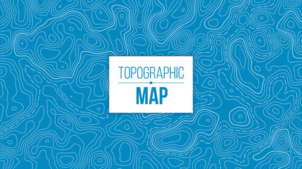 Creative vector illustration of topographic map. Art design contour background. Abstract concept graphic element and geography scheme. Mountain hiking trail grid, terrain path