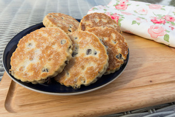 Welsh cakes also known as pics or griddle stones