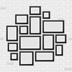 Creative vector illustration of wall picture frames template isolated on background. Art design blank photo. Abstract concept graphic element. Empty image