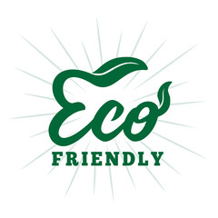 Eco friendly. Vector and illustration.