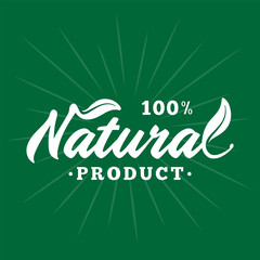 Natural product. Vector and illustration.