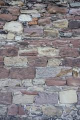 Mur de pierre en grès