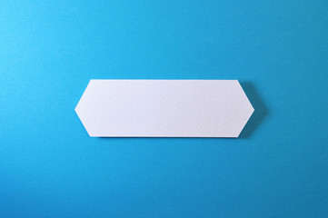 double arrow banner on blue background