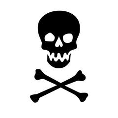 Black skull and crossbones illustration