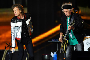 Mick Jagger and Keith Richards of The Rolling Stones perform at London Stadium in London