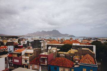 View of town of Mindelo, Sao Vicente, Cape Verde