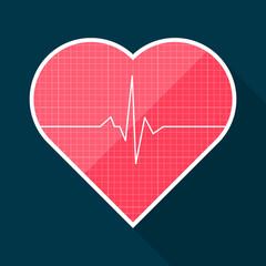 Heart shape with cardiogram inside