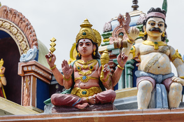 Indian temple, figures.Cameron Highlands.Malaysia