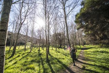Running the Mount Herbert Trail just outside Christchurch New Zealand.