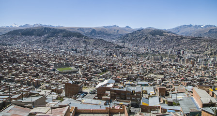 An overview of  La Paz Bolivia.