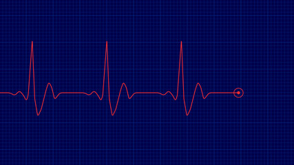 Red line of heart rate