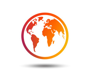 Buscar fotos globo terrqueo globe sign icon world map geography symbol blurred gradient design element vivid graphic gumiabroncs Image collections