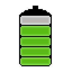 pixel art battery icon