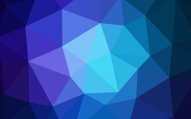 Dark BLUE vector abstract polygonal pattern.