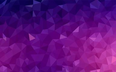 Dark Purple vector shining triangular backdrop.