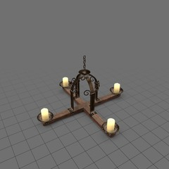 Small chandelier with candles
