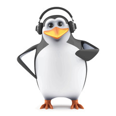 3d Penguin headphones