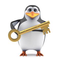 3d Penguin has the key