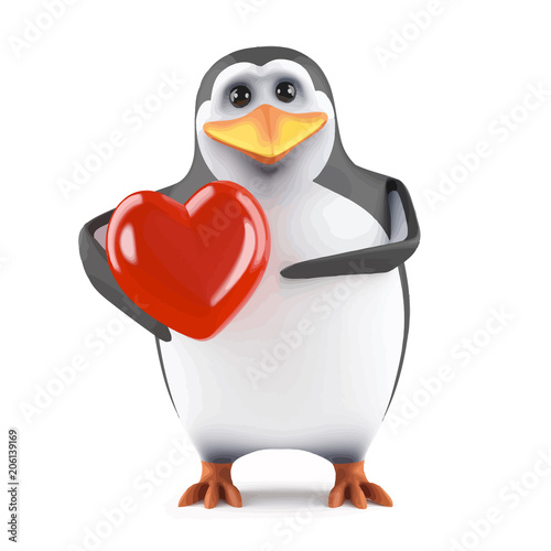 3d penguin lover stock image and royalty free vector files on