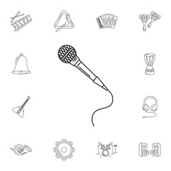 Microphone icon. Simple element illustration. Microphone symbol
