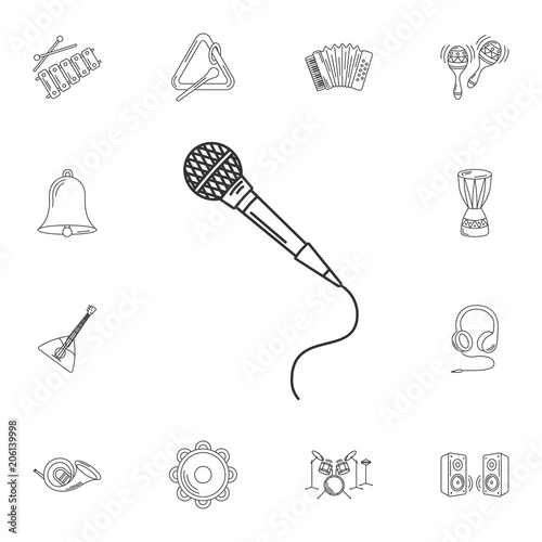 Microphone Icon Simple Element Illustration Microphone Symbol