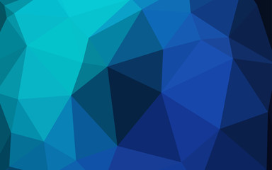 Dark Blue, Green vector low poly layout.
