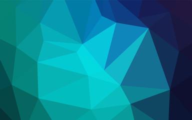 Light Blue, Green vector shining triangular cover.