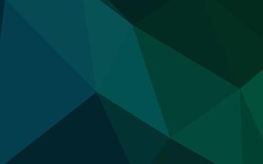 Dark Blue, Green vector gradient triangles texture.