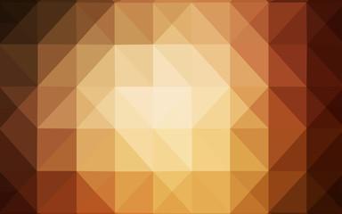 Dark Orange vector low poly cover.