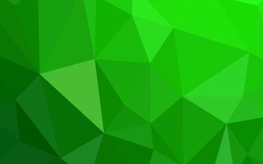 Light Green vector polygonal pattern.