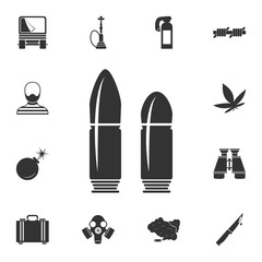 Bullet icon. Simple element illustration. Bullet symbol design from Crime collection set. Can be used for web and mobile