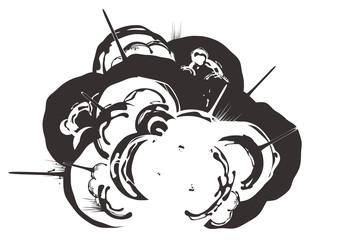 コミック背景「爆発(B)」