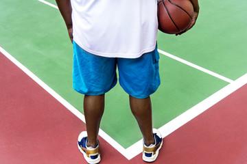 Man on a basketball court
