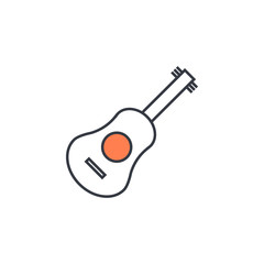 guitar icon. Element of web icon with one color for mobile concept and web apps. Thin line guitar icon can be used for web and mobile. Premium icon