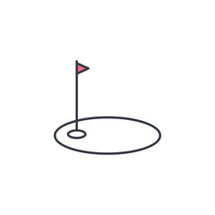 golf bowl icon. Element of web icon with one color for mobile concept and web apps. Thin line golf bowl icon can be used for web and mobile. Premium icon