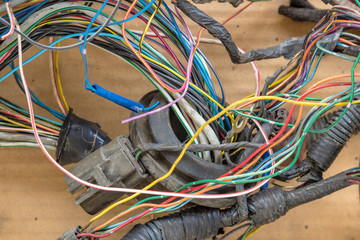 Old messy car wires