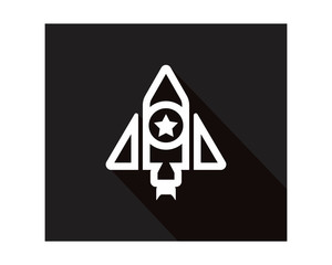 black rocket space business company office corporate image vector icon logo