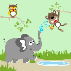 Funny animals cartoon. Eps 10