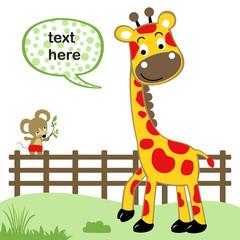 Nice animals cartoon vector