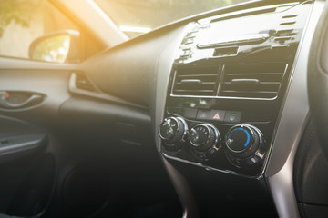 modern car console
