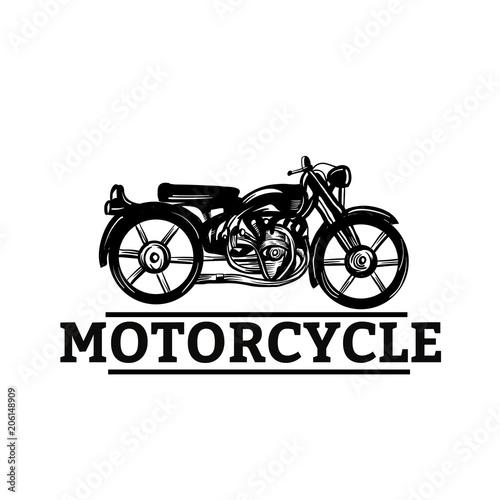 classic motorcycle vector illustration vintage design custom
